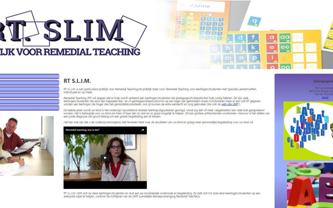 home page RT Slim remedial teaching