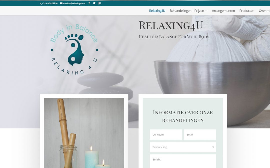 Nieuwe website Relaxing4U