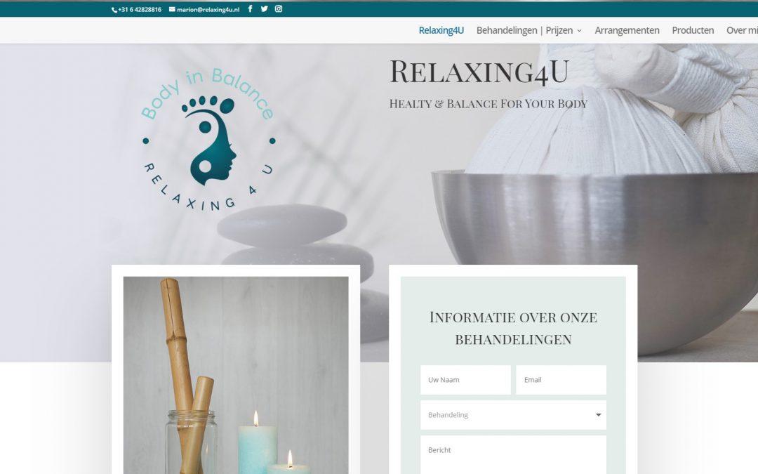 Nieuwe website Relaxing4U